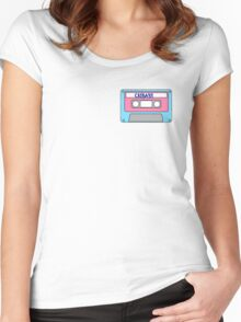 Cry Baby Cassette Tape Women's Fitted Scoop T-Shirt