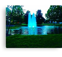 Serene Fountain Canvas Print