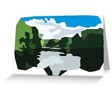 Camp Monroe Lake Greeting Card