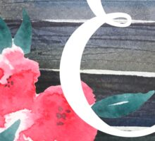 Floral Monogram E Sticker