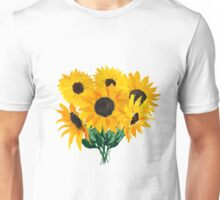Painted sunflower bouquet Unisex T-Shirt