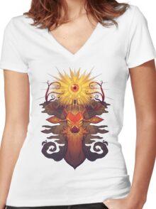 Eye Deer Women's Fitted V-Neck T-Shirt
