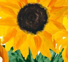 Painted sunflower bouquet Sticker
