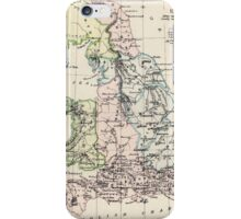 Vintage Map of England (1892) iPhone Case/Skin