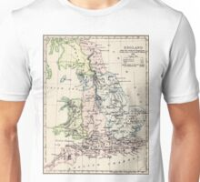 Vintage Map of England (1892) Unisex T-Shirt