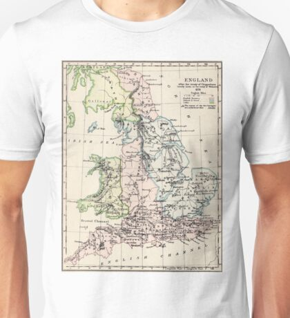 Vintage Map of England (1892) Unisex T-Shirt