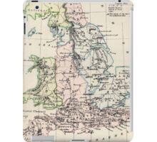 Vintage Map of England (1892) iPad Case/Skin