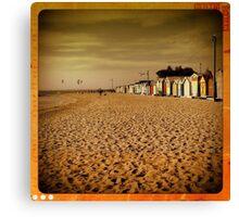 Brighton Beach huts - retro - Victoria - Australia Canvas Print