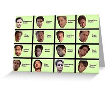 The Many Faces of Fox Mulder Greeting Card