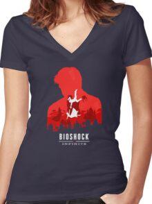Bioshock Women's Fitted V-Neck T-Shirt