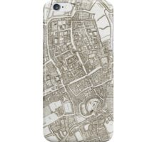Vintage Map of Oxford England (1675) iPhone Case/Skin