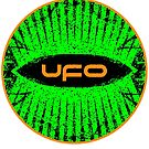 UFO typographic motif by Beesty