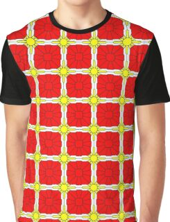 Yellow Suns and Red Shells Graphic T-Shirt
