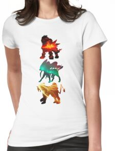 the legendary trio (beasts) Womens Fitted T-Shirt