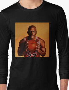 Michael Jordan painting 2 Long Sleeve T-Shirt