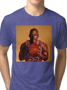 Michael Jordan painting 2 Tri-blend T-Shirt