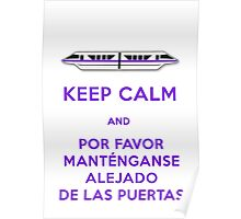 Monorail- Keep Calm (Purple) Poster
