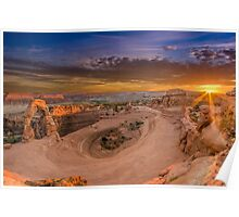 Sunset at Delicate Arch, Utah. Poster