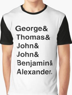 Founding Fathers (Hamilton included) Graphic T-Shirt
