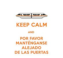 Monorail- Keep Calm (Orange) Photographic Print