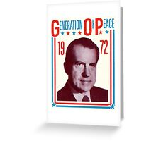 1972 Groovy Nixon for President Greeting Card