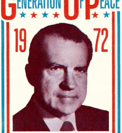 1972 Groovy Nixon for President Sticker