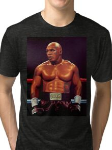 Mike Tyson painting Tri-blend T-Shirt