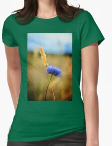 wild plant cross Womens Fitted T-Shirt