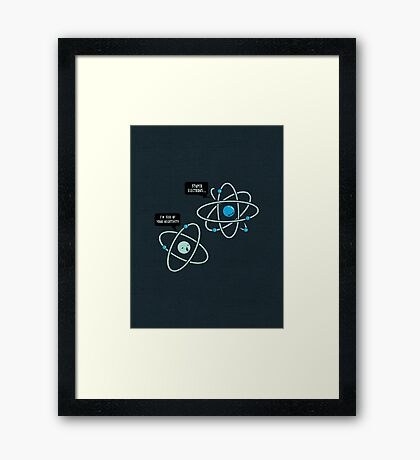 Negative Atom Framed Print