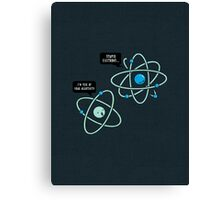 Negative Atom Canvas Print