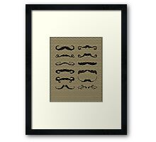 Mustache Chart Version 2 Framed Print