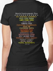 The Mortal Instruments Tour Women's Fitted V-Neck T-Shirt
