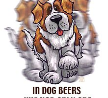 Dog Beers St. Bernard by ImagineThatNYC