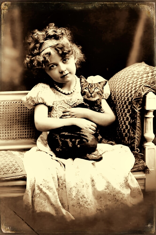 Girl with cat by © Kira Bodensted