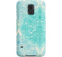 Happy Place Doodle in Mint Green & Aqua Samsung Galaxy Case/Skin