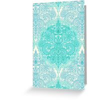 Happy Place Doodle in Mint Green & Aqua Greeting Card