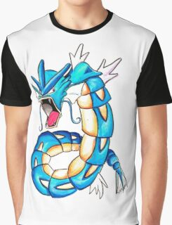 Gyarados watercolor Graphic T-Shirt