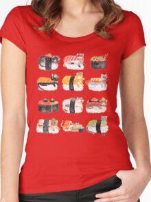 Nekozushi Women's Fitted Scoop T-Shirt