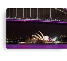 Purple Bridge and water Canvas Print