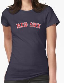 Vintage Red Sux - Blue Womens Fitted T-Shirt