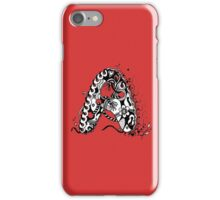The Letter A Alphabet  Black and White with Transparent Background iPhone Case/Skin