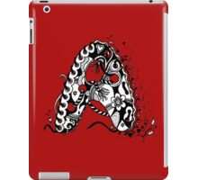 The Letter A Alphabet  Black and White with Transparent Background iPad Case/Skin