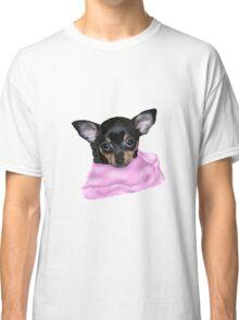 Cute Chihuahua Puppy Portrait No Background Classic T-Shirt