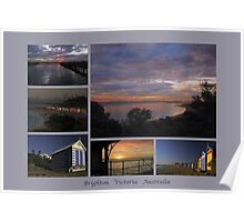 Brighton sunsets collage - Victoria - Australia Poster