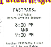Mickey's Philharmagic Fastpass Sticker