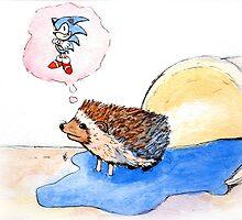 Hedgehog Dreams Big by BohemianFerret
