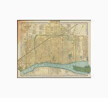 Vintage Map of Detroit Michigan (1895) Unisex T-Shirt