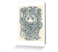 Tiger Tangle Greeting Card