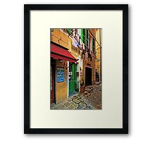 Clothes Drying and Pasta Cooking - Monterosso, Italy Framed Print