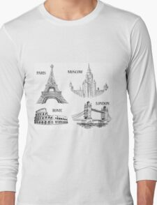 World Landmark Long Sleeve T-Shirt